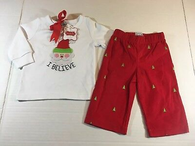 Mud Pie Baby Boys 0-6 Month Christmas Outfit Long Sleeve Santa Red Corduroy  Pant - MUD PIE. CHRISTMAS Outfit. Boutique. Baby Girl 3-6 Months - $6.50