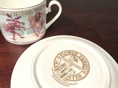 Flower Fairies Cicely Mary Barker Saucer Cup 1997 Winter Wren Fairy China Rare