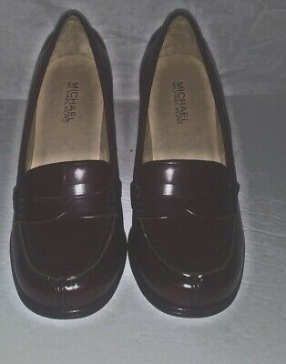 0aae38deed8b  135 SIZE 7.5 Michael Kors Bayville Penny Loafer Black Leather Pump ...