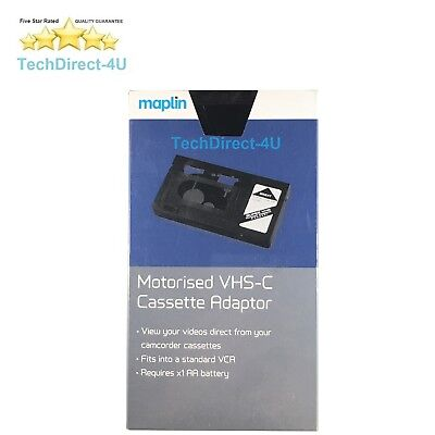 Maplin Certified VHS-C Camcorder to VHS Video Cassette Adaptor Motorised Adapter