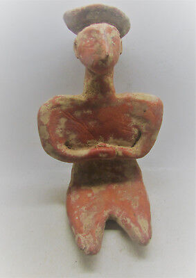 Bronze Age Near Eastern Terracotta Seated Diety. Rare