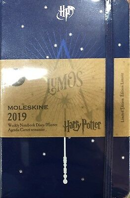 MOLESKINE Agenda 2019 POCKET WEEKLY NOTEBOOK HARRY POTTER