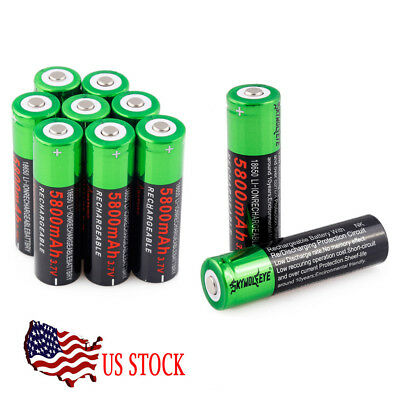 Rechargeable Battery 3.7V 5800mAh Li-ion 18650 Batterise Smart Charger For Torch