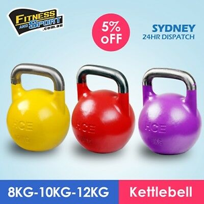 NEW Competition Kettlebell Set of 8KG&10KG&12KG Fitness Gym Strength Training