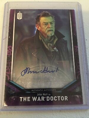 2018 Topps Doctor Who Signature Series John Hurt auto card - The War Doctor