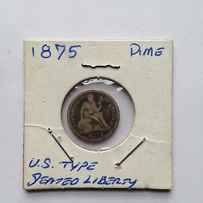1875 10C Seated Liberty Silver Dime