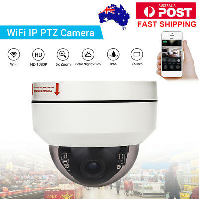 HD 1080P WiFi Wireless Network IP Camera PTZ 3x Zoom Security Night Vision Dome