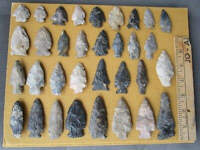 LOT OF 33 Authentic Arrowheads Relics found in Southern