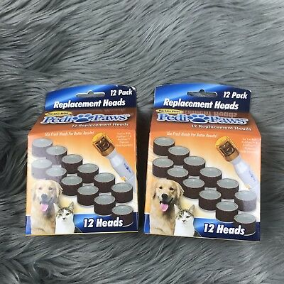 Pedi Paws 2 12 Packs Refill Nail File Trimmer Replacement Heads Pedipaws Seen TV