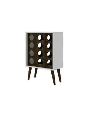 Mid Century Modern Wine Rack in White and Brown [ID 3771675]