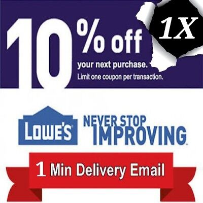 Lowes 10% OFF - 1COUPON - Fast Delivery-InStore/Online ~EXP 12/31/18 *USE TODAY*