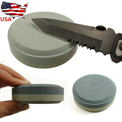 Axe Sharpening Lansky Puck Sharpener Blade Stone Dual Grit Multi-Purpose 7.8cm