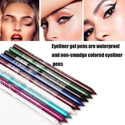 Womens Long lasting Eye Liner Pencil Waterproof Pigment Makeup Beauty Eyeliner