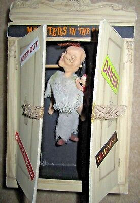 Dept 56 HALLOWEEN Monsters in the closet and Over the Hill Tombstone