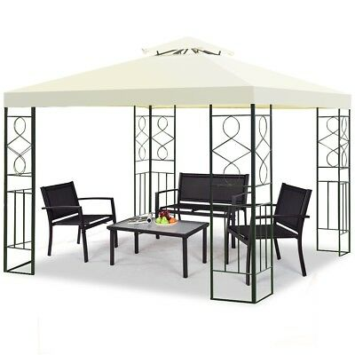 2-Tier 10' Square Garden Patio Gazebo Top Cover Roof Replacement Tent Canopy US