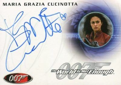 James Bond A46 The Quotable James Bond Maria Grazia Cucinotta Autograph Card