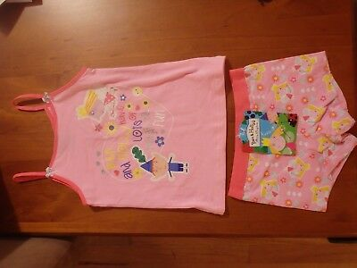 Bnwt Girls Pink  Ben& Holly's Singlet And Short Set Size 3/4