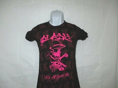 Slash Pink We're All Gonna Die T-Shirt - Black Junior Sizes Small - X-Large NEW