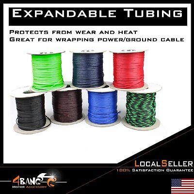 100ft Expandable Wire Cable Sleeving Sheathing Braided Loom Tubing (chose color)