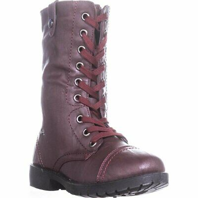 """Wanted """"Colorado"""" Combat Boot with Fold-Over Knit Detail,9 M US"""
