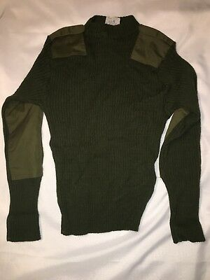 US Marine Corps USMC Green Knit Sweater Service Wool Wooly Pulley Size 40