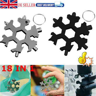 18 In 1 Incredible Tool Stainless Home Multi-tool Portable Snowflake Shape Tool