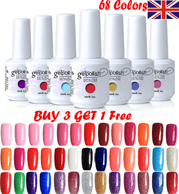15ML GEL LAB Soak Off  UV LED Gel Polish Base Top Coat Manicure Varnish z