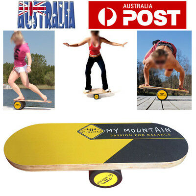 Wooden Balance Board Trainer Roller Core Strength Stability Improvement Adult AU