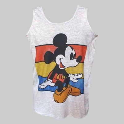 MICKEY MOUSE CARTOON POP ART PARTY T-SHIRT unisex grey VEST TOP S-2XL