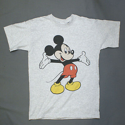 MICKEY MOUSE CARTOON POP ART T-SHIRT unisex grey party festival S-3XL