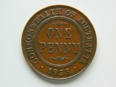 1933 KGV  PENNY. in really nice condition for it's age.