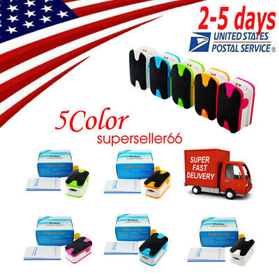 5-Color OLED Fingertip SPO2 PR Pulse Oximeter-Heart Rate Monitor Alarm Meter US!