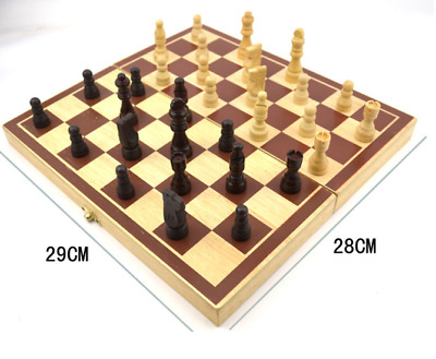 Brand New Protable Large Folding Wooden Chess Set Standard Chess 290 * 280 mm