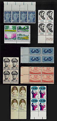 USA mixed collection No.100, joined blocks of 4, mint MH