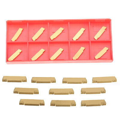 US 10pcs MGMN200-G 2mm Carbide Inserts Blades for MGEHR/MGIVR Grooving Tool