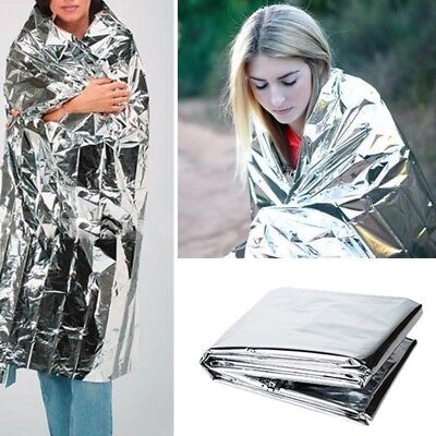 10x Portable Waterproof Emergency Rescue Blanket Protection For Outdoors Camping
