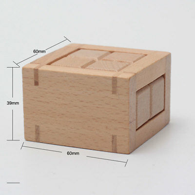 Wooden Prison Break Puzzle Magic Brain Teasers Toy Intelligence Game Kongming