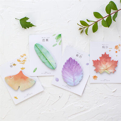 Natural Plant Leaf Memo Pad Sticky Notes Notepad Kawaii Stickers Message Notes