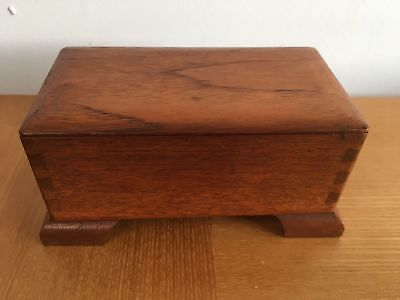 Vintage Art Deco Style Wooden Box Hand Crafted Storage Box Trinket Jewellery