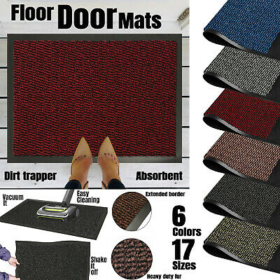 Large Small Heavy Duty Nonslip Barrier Mat Hall  Rugs Kitchen Back Door Rubber