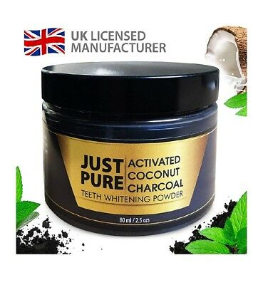 Just Pure Activated Charcoal Teeth Whitening Powder 80ml