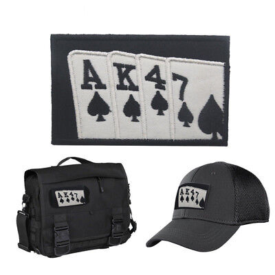 AK47 Playing Cards badges patches armband army Hook Embroidery Patch