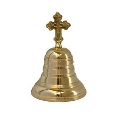 Brass Altar Bell with Cross Christian Church & Monastery Supplies Free Shipping!