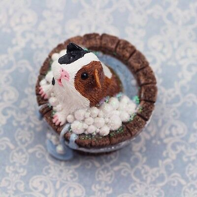 Guinea Pig Figurine or ornament - PUDDLES by Forever Home Studios.