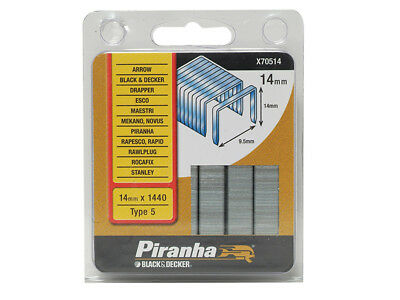 Black and Decker X70514 Flat Wire Staples 14mm Pack 1440