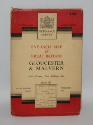 Ordnance Survey One Inch Map - Gloucester & Malvern - Sheet 143 - 1953