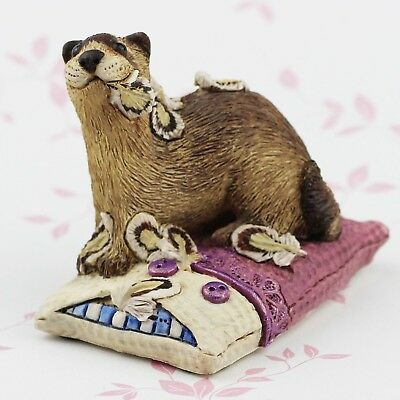 FERRET Figurine/Ornament - NAUGHTY RIGSBY by Forever Home Studios.