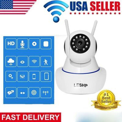 720P Wireless WIFI Pan Tilt Security IP Camera Day/ Night Webcam Baby Monitor AS