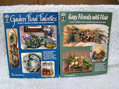Lot of 2 Hot Off the Press Bks, Garden Floral Favorites/Easy Florals w/ Flair Pb