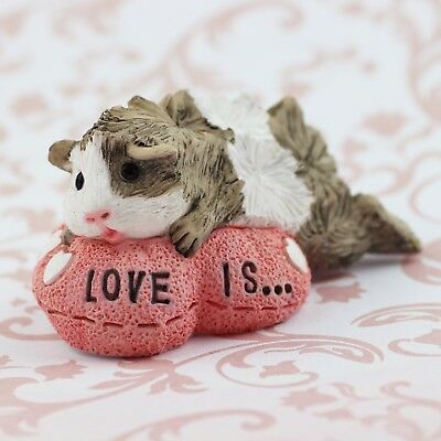 Guinea Pig Figurine or ornament - ROMEO PINK by Forever Home Studios.